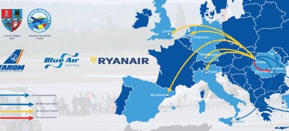 Noile curse au triplat traficul pe Aeroportul Oradea!