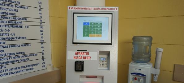 Automat selfpay la Primăria Oradea, pentru evitarea cozilor!