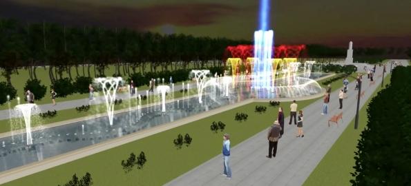 Fântână muzicală cu jocuri de apă și lumini în locul artezienelor din Parcul 1 Decembrie!